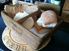 (NEW)FARMHOUSE BREAD BASKET/BIN~SMALL~MED~LARGE RUSTIC HOME WOODEN BASKET