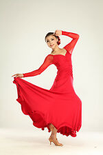 NEW Latin salsa tango Ballroom Dance Dress Long Dress #HB164