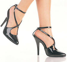 Pleaser Seduce Crisscross Ankle Strap High Heel