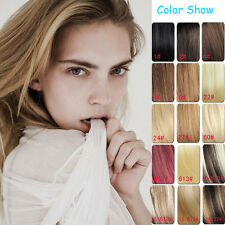 """16"""" 7Pcs 60g Clips in 100% Real Human Hair Extension AAA quality 14 colors"""