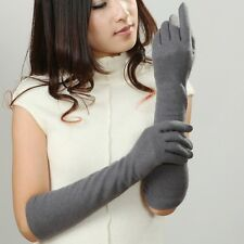 5 color-Free shipping Women's long Stretch winter warm armwarmer wool gloves