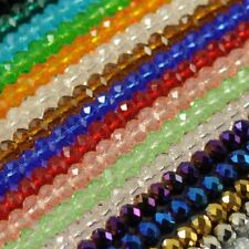 New Faceted Crystal Rondelle Loose Charm Glass Beads Jewelry 21 Colors 6mm 8mm
