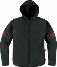 *Free Shipping* ICON 1000 Hoodlux Softshell (Pursuit Blk)Motorcycle Jacket