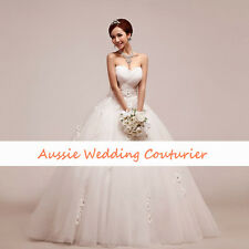 Custom Make Debutante Dress Formal Gown Bridal Wedding Deb Avail in all Colours