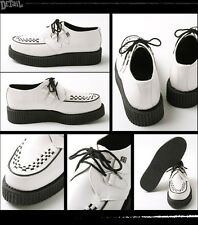 Shoes a7269 creeper mondo lo sole creepers white black leather lace