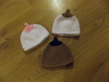 baby breast feeding boobie hat beanie photo props various colours 0-3 months