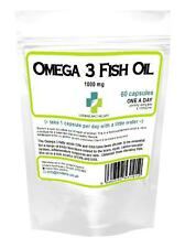 *NEW* OMEGA 3 fish oil 1000mg 1 A Day 2 months supply *Fast Worldwide Delivery*