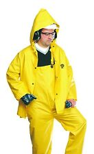 85JPH 3-Piece FR Flame Retardant Yellow Rain Suit - Jacket Hood and Bib Overalls