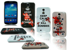 NEW KEEP CALM AND KILL ZOMBIES HARD BACK CASE COVER FOR SAMSUNG GALAXY S4 I9500