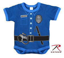 New Rothco 67099 Infant Toddler Police Officer Uniform Onesie One Piece Bodysuit