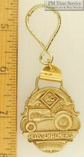 Sturdy key chain with a stylized gold-toned AC (Allis Chalmers) shield