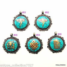 PD-38 Nepalese Tibetan Ethnic Assorted Design Turquoise Jewellery Drop Pendants