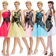 Bridesmaid Party Evening Cocktail Prom Homecoming Gown Short Skirt Dress US 2-16