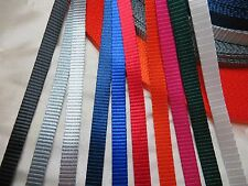 3/8'' (10mm) -Nylon Webbing -Mid weight -Fine and close -color and qty pick
