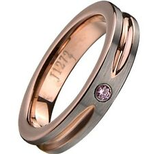 4MM Width Rose Gold TUNGSTEN CARBIDE Wedding Ring Engagement Brushed SZ 5-15