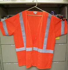 Safety Vest ANSI Class 3 Flourescent Orange 1291-O Lot of 1 Vest