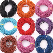 10/100M Solid Color Genuine Leather Cord for DIY Jewelry Necklace Bracelet 2.0mm