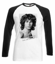 JIM MORRISON BASEBALL TSHIRT THE DOORS T-SHIRT MUSIC TOP QUOTE MENS NEW SHIRT