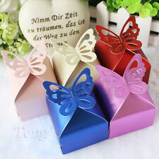 200 pieces Butterfly Top Wedding Party Favor Gift Candy Bomboniere Box FREE S/H