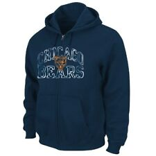 Chicago Bears Majestic NFL Touchback IV Full Zip Hooded Sweatshirt - Navy