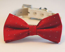Dog bow tie, Red Collar, Pet  Accessories, Christmas Gift idea, High quality