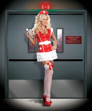 Nurse Red Uniform Halloween Costume Adult Sexy Women Costume Cosplay Dreamgirl