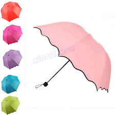 New Women Flouncing Sun-shading Folding Change Colors Magic Rain Sun Umbrella