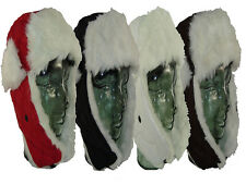 MENS LADIES LUXURY QUILTED FAUX FUR TRIM TRAPPER WINTER HAT IN 4 COLOURS NEW
