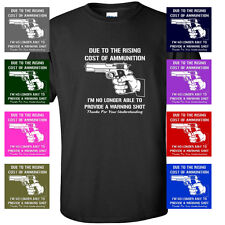 COST OF AMMO FUNNY GUNS ar15 ak47 Mens T-Shirt