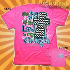 """NEW """"JOY OF THE LORD""""  Womens Cherished Girl Christian T-Shirt by KERUSSO"""