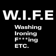 WIFE T-SHIRT Mens Tee FUNNY marriage husband sexist offensive sex humor tee