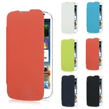 Leather Flip Battery Case Hard PC Back Cover for Huawei Ascend G610