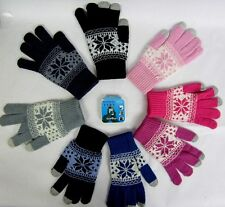 SNOW FLAKES DESIGN  TOUCH SCREEN GLOVES  FOR SMART PHONE, TABLET,TEXTING