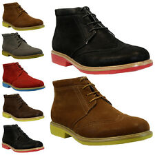 MENS FAUX SUEDE LACE UP CASUAL FORMAL ANKLE DESERT BROGUE BOOTS TRAINERS SHOES