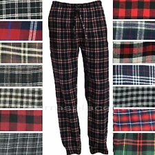 Men flannel pajamas pants Loungewear Pants 100% Cotton Plaid PJ Sleepwear S - 2X