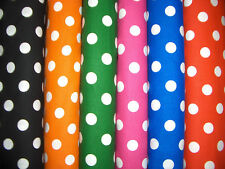 "1/2"" Polka Dots Cotton Quilt Fabric 6 Colors Available"