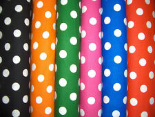 """1/2"""" Polka Dots Cotton Quilt Fabric 6 Colors Available"""
