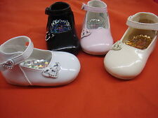 NEW Baby Girl Black/Ivory/Bone/Pink/White Shoes/Wedding/Baptism/Size 2,3,4,5,6