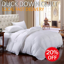 80% White Duck Down Cotton Cover Quilt/Duvet/Doona/Blanket Bedding-SB/DB/QB/KB