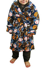 Boys DRESSING GOWN ROBE - Sport - Age 2 - 16 year- rugby tennis football
