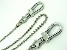 Extra Long STAINLESS STEEL 4mm BALL Key CHAIN for Wallet / Key Finder / Bike..