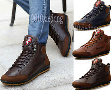 Men's Fashion Casual Sneaker Lace up Shoes Fall&Winter Ankle Boots Flats Shoes