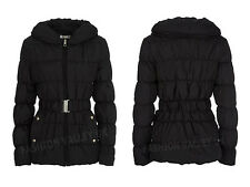 NEW WOMENS MISUMI QUILTED BELTED JACKET LADIES BLACK PADDED ZIP UP WINTER COAT