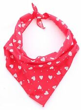 Patchwork Love Hearts Party Puppy Dog Grooming Bandana/Collar Handmade in UK