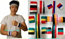 WristBand Sweatband set 3 tone hiking camping hunting outdoor sport headware