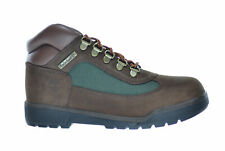 Timberland Big Kids Leather And Fabric Field Boots Brown/Olive Green 16937