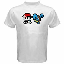 Ash and Squirtle shirt S-XL t-shirt t ynr pokemon pika minecraft