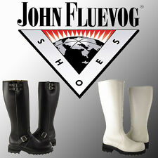 F-shoes John Fluevog Womens Boots Black and White 100% Leather Best Price!