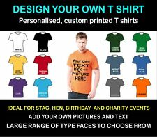 Personalised tee shirt, create your own design.