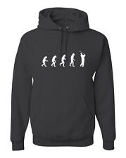 Evolution of Man Golfer Hoodie Golfing Sweatshirt Gift w/Free Sticker FREE S&H!